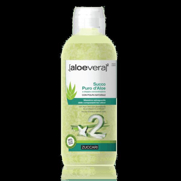Succo puro d'aloe a doppia concentrazione con polpa naturale